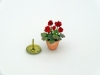 Handmade 24th Scale Red Geranium