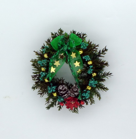 Luxury Green Bow Christmas Wreath