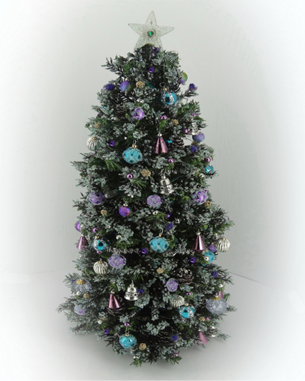 7.5 Luxury OOAK 12th scale Dollshouse Frosted Christmes Tree