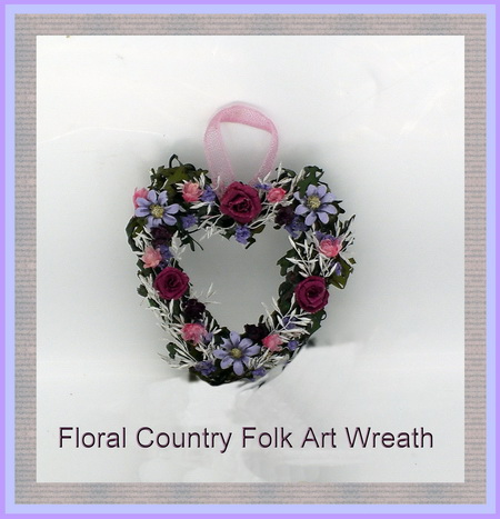 Dollshouse Miniature Country Folk Art Wreath