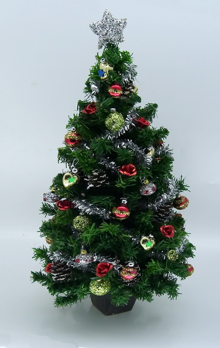 "Luxury 6.5"" Chatruse and Red Christmas Tree"