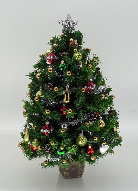 "Dollshouse Miniature Luxury 5.5"" Christmas Tree"
