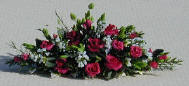 Roses and Gypsophilia Mantel Display