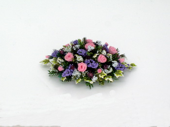 Pink Roses, Gypsophilia and Lilac