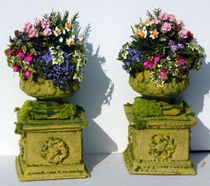 Large Stone Urns on Plinth