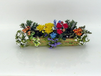 Mixed Flowers in Stone Window Box