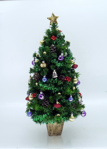 "Dollshouse Miniature Luxury 6.5"" Multi Coloured Christmas Tree"
