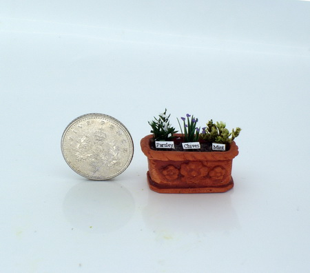 Tiny Planted Kitchen Herb Trough